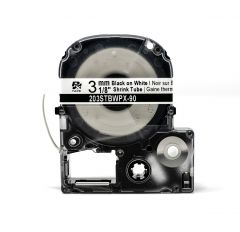 "Epson LABELWORKS PX Shrink Tube 1/8"" (AWG 16-22) x 96"" Black on White Tape - 203STBWPX"