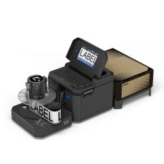 Rewinder with LW-Z5010PX Label Printer and Bulk Roll