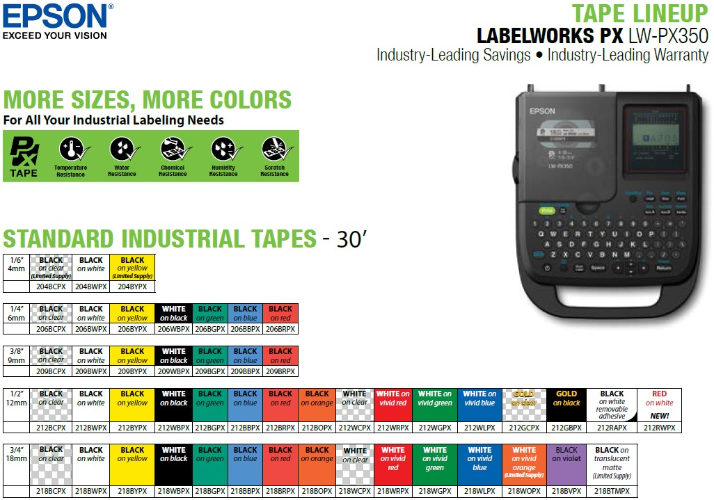 LW-PX350-tape-lineup