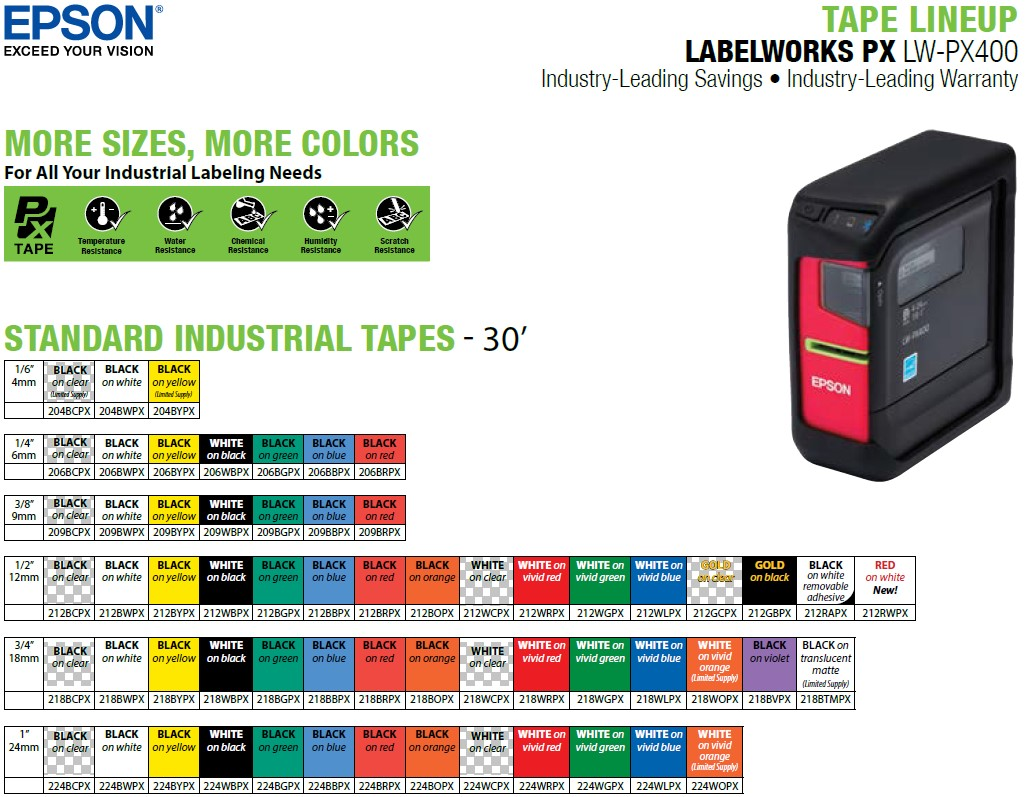 LW-PX400-tape-lineup