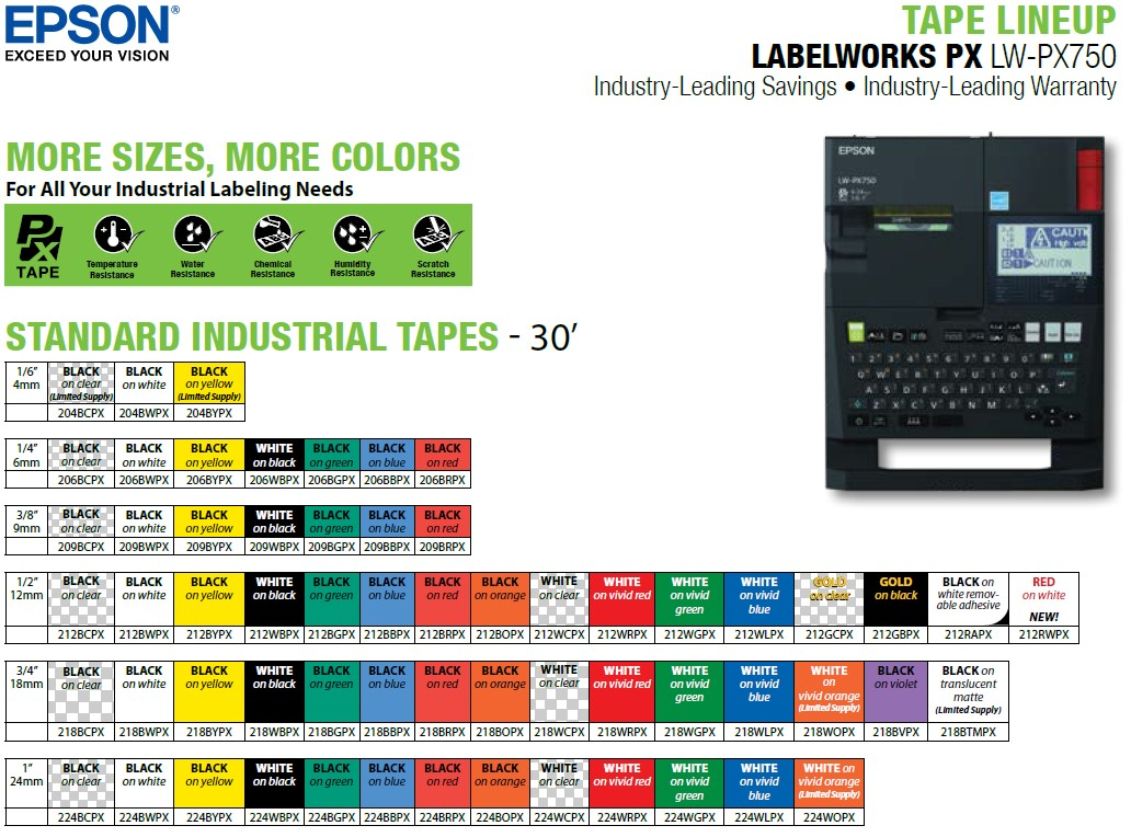 LW-PX750-tape-lineup