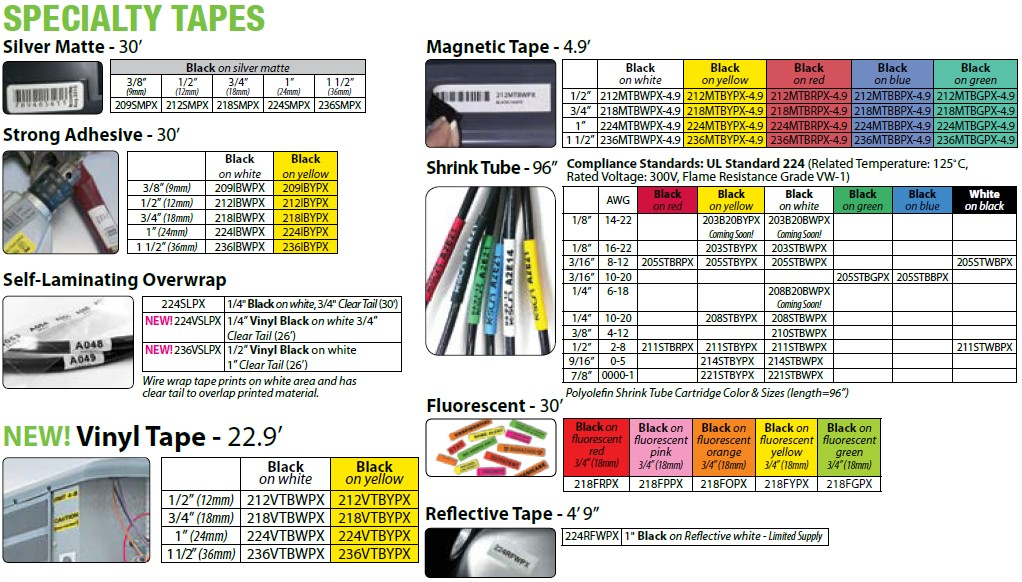 LW-PX800-specialty-tapes
