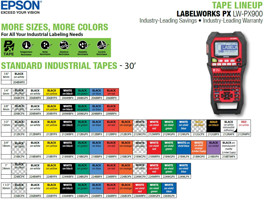 LW-PX900-tape-lineup