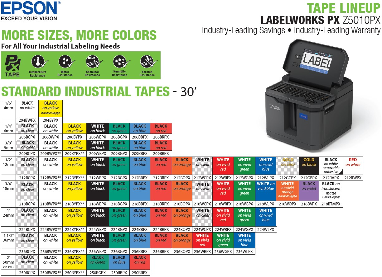 LW-Z5010PX-industrial-tape-lineup