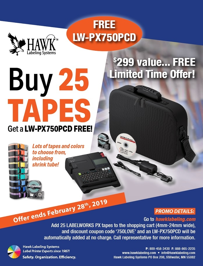 LW-PX750PCD Free with 25 Tapes!