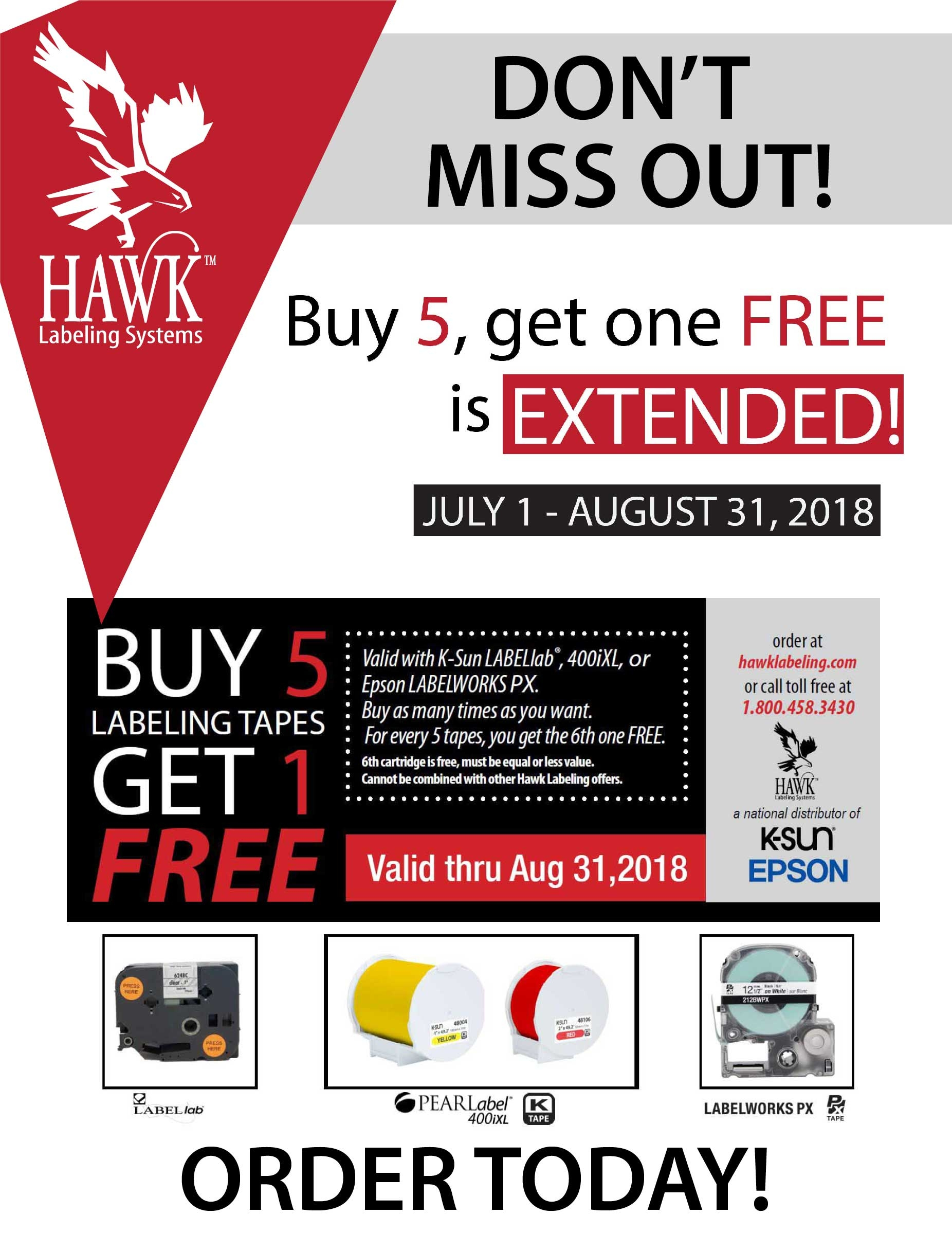 July & August Special: Buy 5 Get 1 FREE!