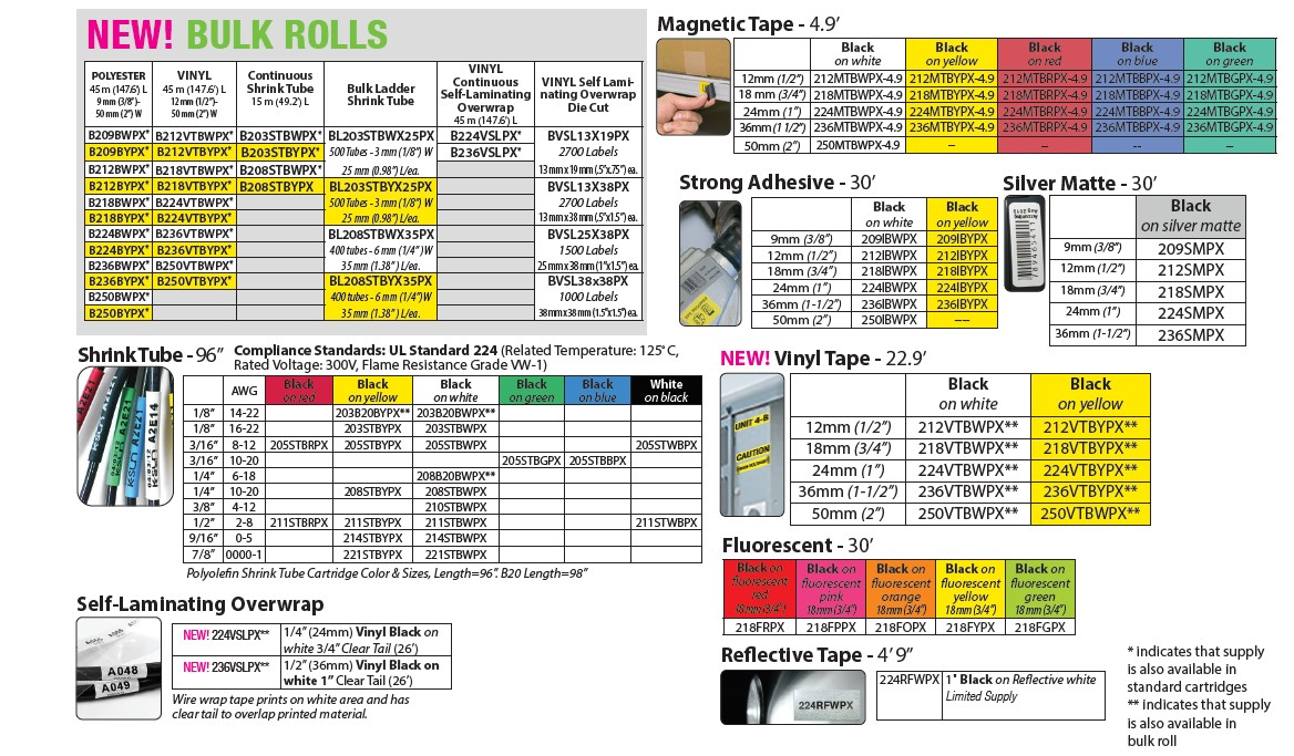 Epson LabelWorks bulk rolls and tape supplies